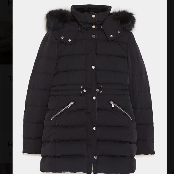 72ec3b9b672 Zara Jackets & Coats | Feather Down Parka | Poshmark